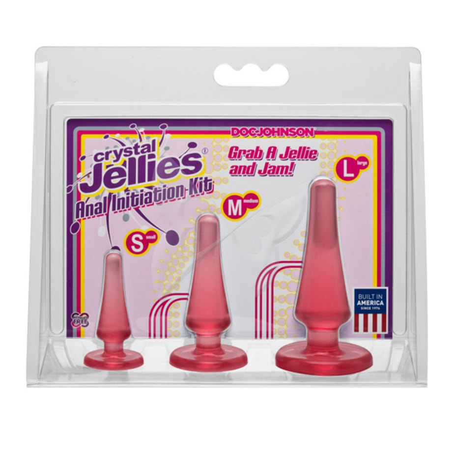 Crystal Jellies Anal Initiation Kit (Pink) Box