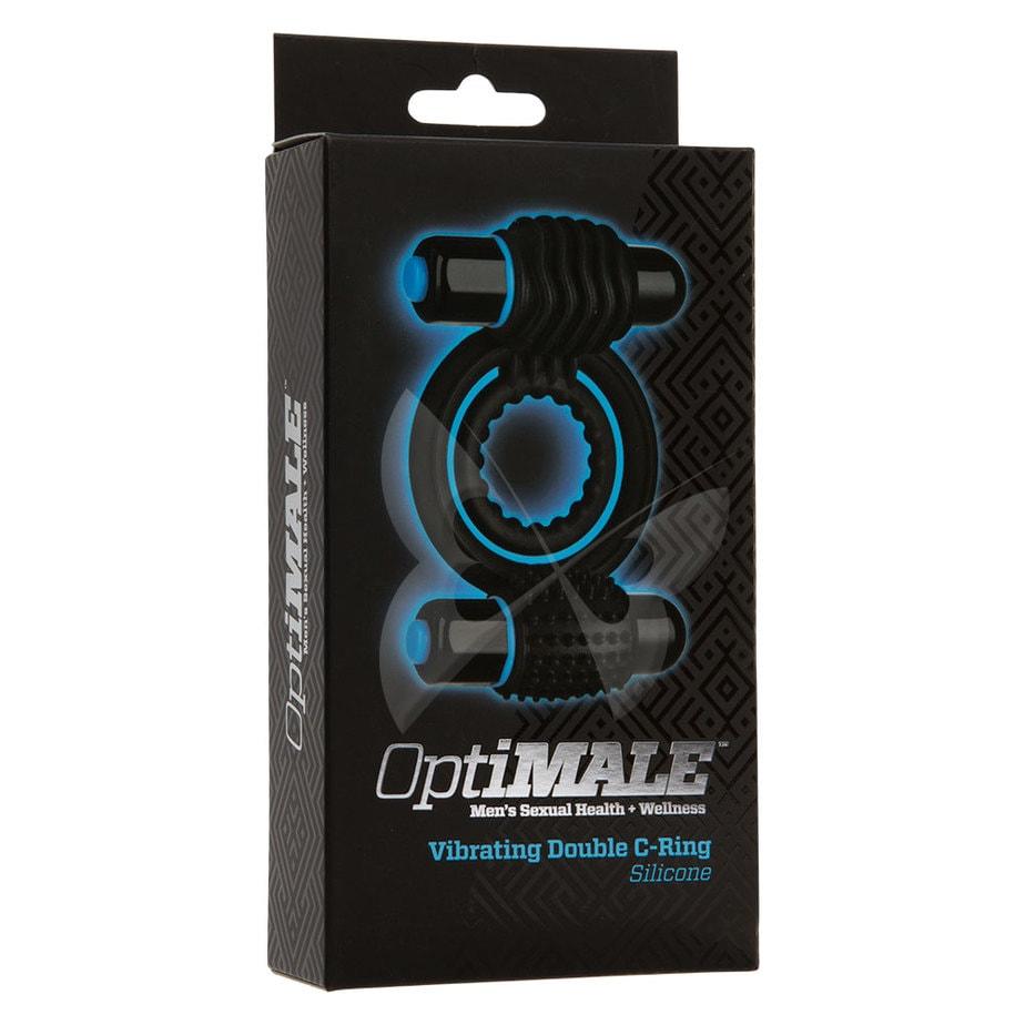 OptiMALE Vibrating Double C Ring (Black) Box