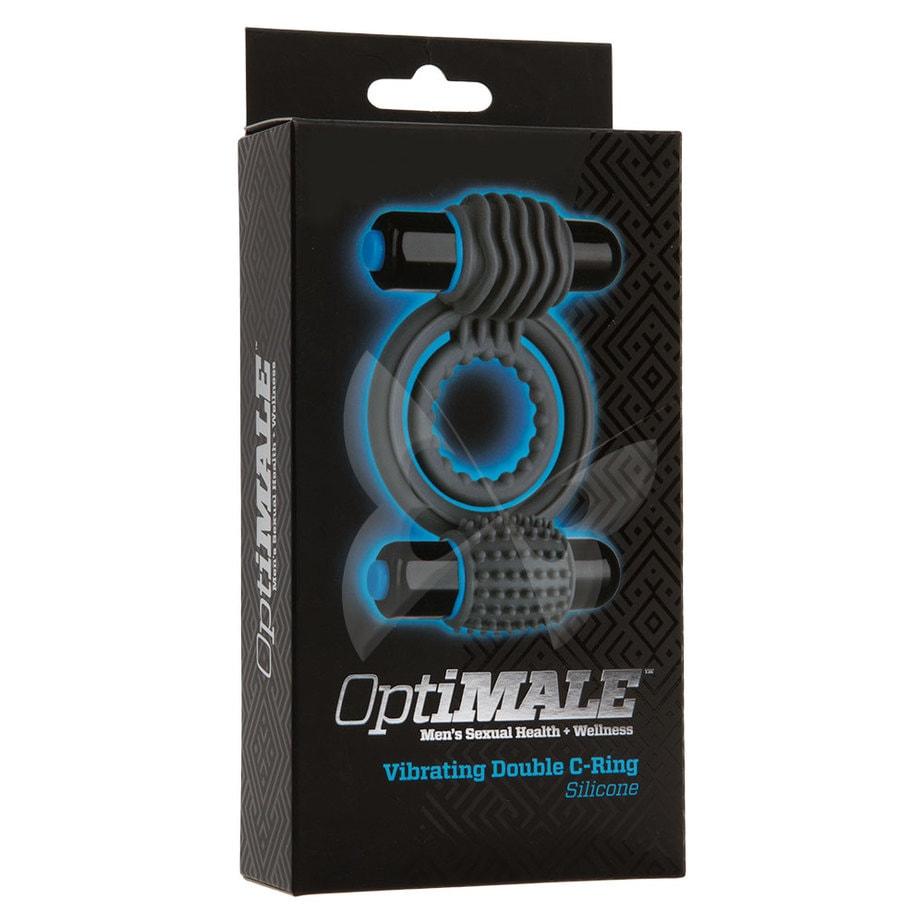 OptiMALE Vibrating Double C Ring (Slate) Box