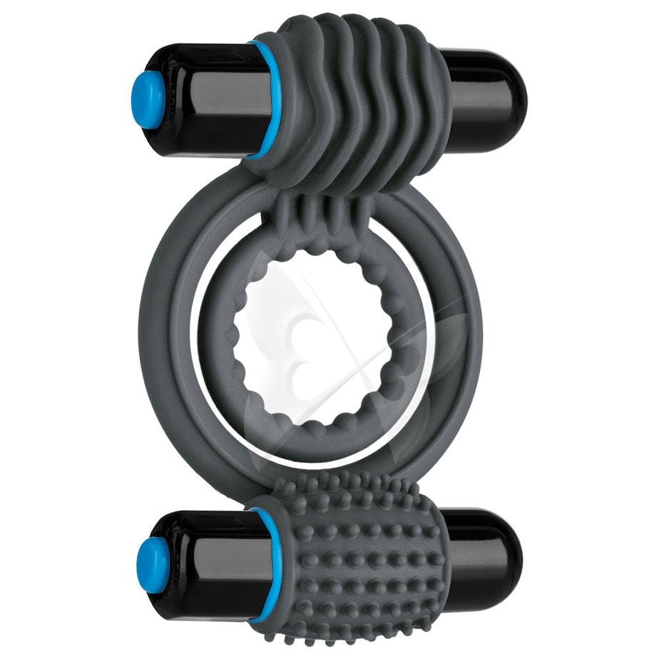 OptiMALE Vibrating Double C Ring (Slate)