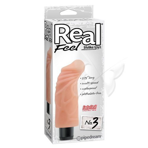 Real Feel Lifelike Toyz 5.75 Inch Flesh Realistic Vibrator Box