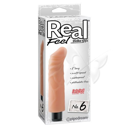 Real Feel Lifelike Toyz 8 Inch Flesh Realistic Vibrator Box