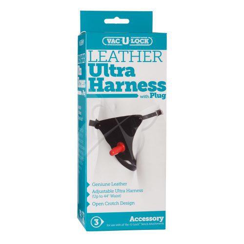 Vac U Lock Leather Ultra Harness with Plug Box