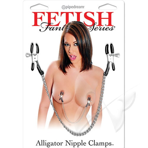 Fetish Fantasy Series Alligator Nipple Clamps Packaging