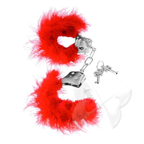 Fetish Fantasy Series Feather Love Cuffs (Red)