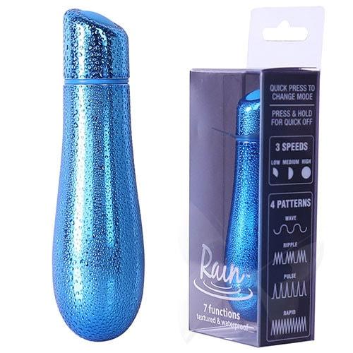 PowerBullet Rain Waterproof Bullet Vibrator (Blue) Box