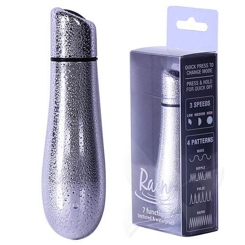 PowerBullet Rain Waterproof Bullet Vibrator (Silver) Box