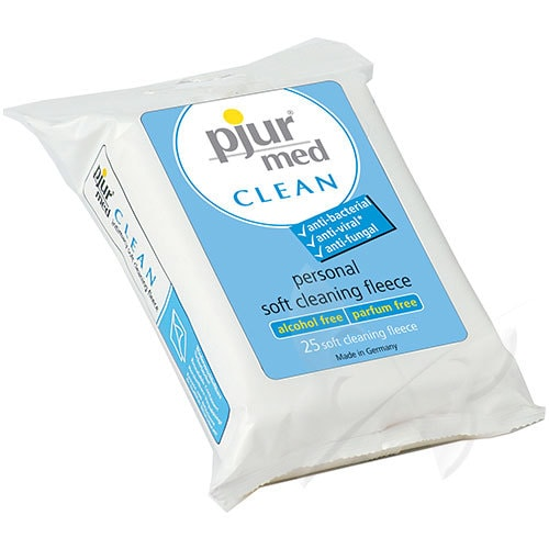Pjur Med Clean Antibacterial Wipes (25 Pack)