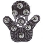 Roller Ball Massage Glove (Black) Bottom View