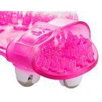 Roller Ball Massage Glove (Pink) Top View