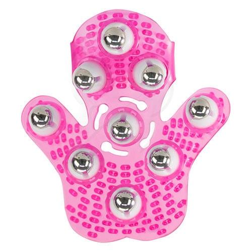 Roller Ball Massage Glove (Pink) Bottom View