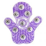 Roller Ball Massage Glove (Purple) Bottom View