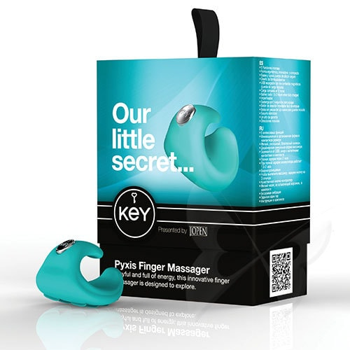 Key by Jopen Pyxis Finger Vibrator (Robin Egg Blue) Box