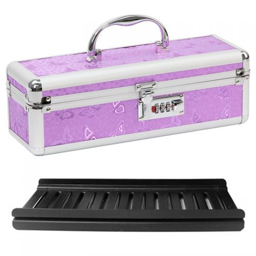 Lockable Vibrator Case Medium (Purple) | Sex Toy Storage