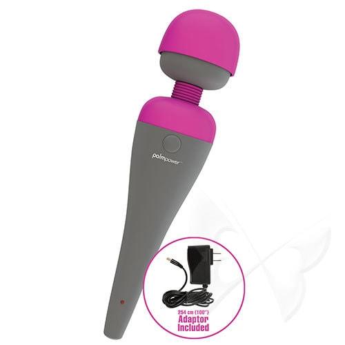 Palm Power Massager Fuchsia Massage Wand USB Rechargeable