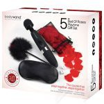 BodyWand Bed of Roses Set Luxury Massage Wand Sex Toy Kit Box