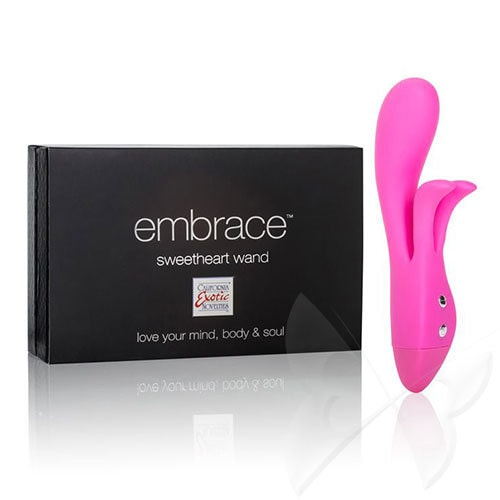 Embrace Sweetheart Wand Rabbit Vibrator (Pink) Box