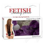 Fetish Fantasy Series Original Furry Cuffs Purple Handcuffs Box