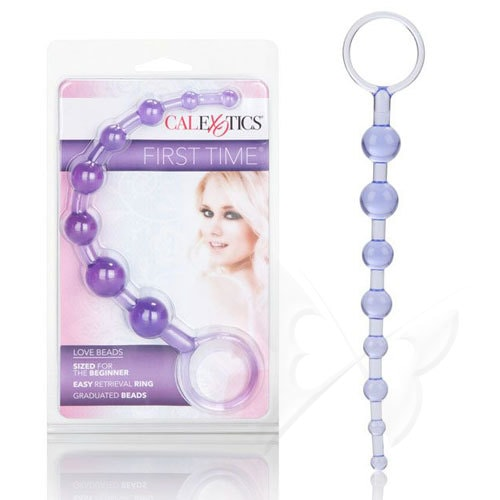 First Time Love Beads Anal Beads (Purple) Box