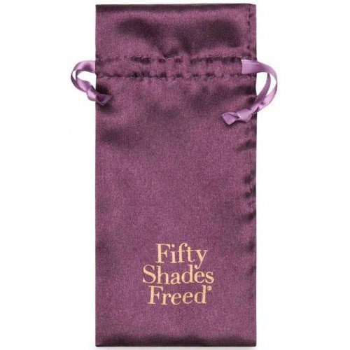 Fifty Shades Freed All Sensation Nipple and Clitoral Chain Satin Bag