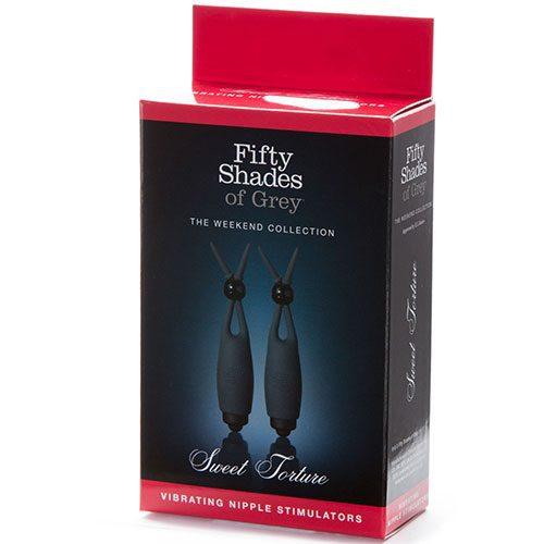 Fifty Shades of Grey Sweet Torture Vibrating Nipple Stimulators Box