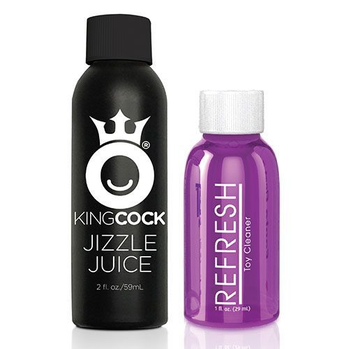King Cock 7 Inch Squirting Cock (Flesh) Care Kit