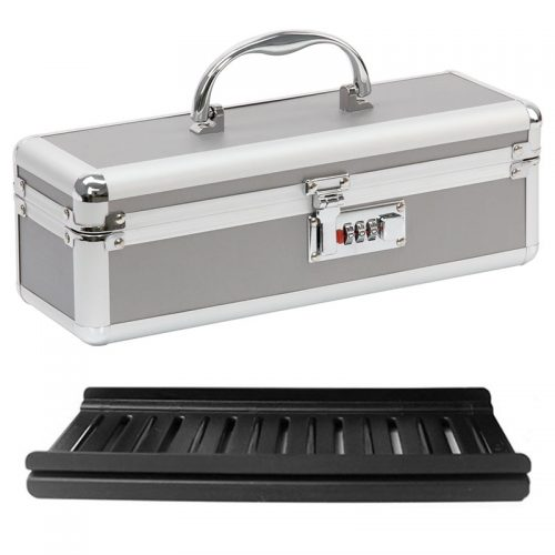 Lockable Sex Toy Case Medium Silver | Sex Toy Cases | Sex Toy Boxes
