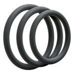 Optimale 3 C Ring Set Thin Slate Cock Ring Set