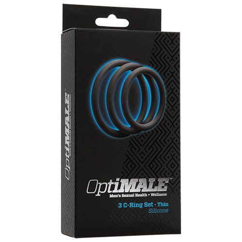 Optimale 3 C Ring Set Thin Slate Cock Ring Set Box