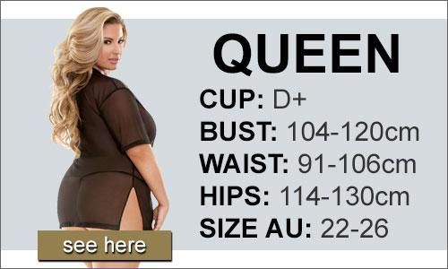 Lingerie Size Queen (Q) AU 22-26