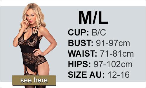 Lingerie Size Medium/Large (M/L) AU 12-16