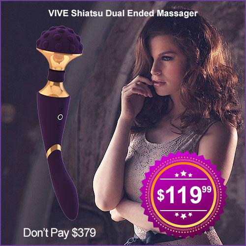 Vive Shiatsu Massager | Dual Ended Massage Wand