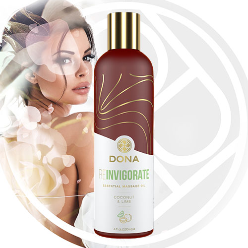 DONA Essential Massage Oil (Reinvigorate) 120mL | Massage Oils