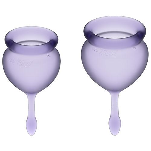 Satisfyer Feel Good Menstrual Cups (Purple)