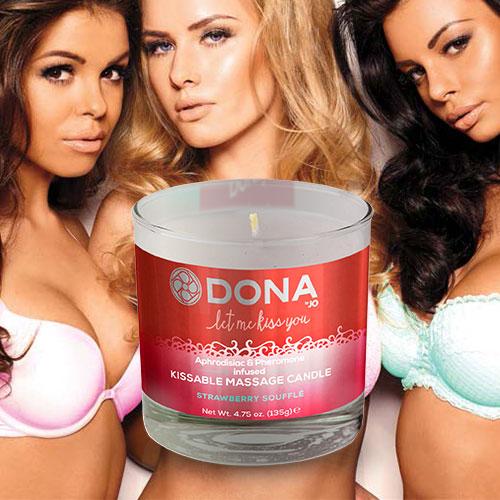 Dona   Kissable Massage Candle   Strawberry Soufflé