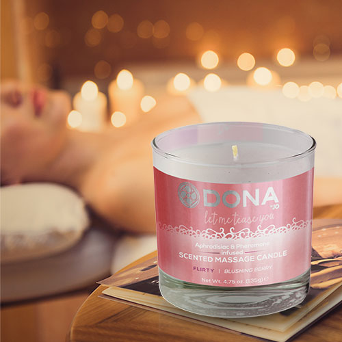 Dona | Scented Massage Candle | Flirty Blushing Berry