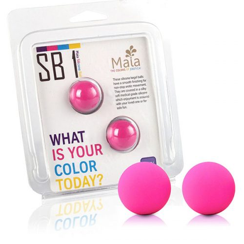 Maia Carrie Set Of 2 Silicone Kegel Balls (Neon Pink)
