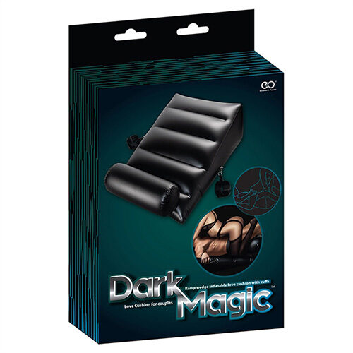 Dark Magic Inflatable Ramp Wedge With Cuffs | Sex Furniture