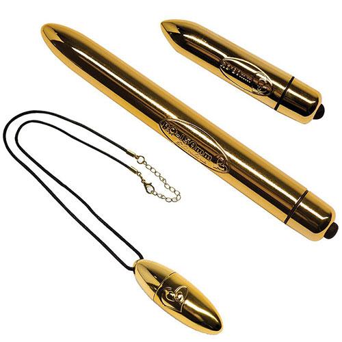 Feranti Gold Bullet Collection Box   3 Bullet Vibrators
