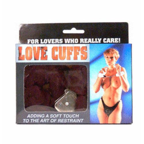 Fluffy Love Cuffs (Black) | Handcuffs | Bondage Sex Toys