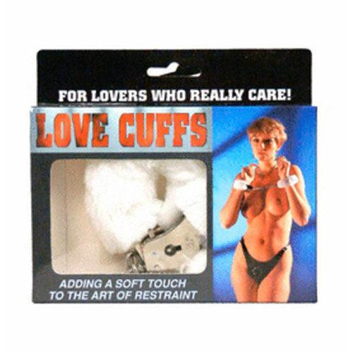 Fluffy Love Cuffs (White) | Handcuffs | Bondage Sex Toys